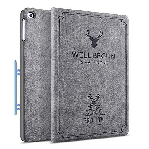 ProElite Deer Flip case Cover for Samsung Galaxy Tab S6 Lite 10.4 Inch SM-P610/P615 (Supports S Pen Magnetic Attachment), Grey