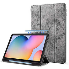 Load image into Gallery viewer, ProElite PU Smart Flip case Cover for Samsung Galaxy Tab S6 Lite 10.4 Inch SM-P610/P615 with S Pen Holder , Grey