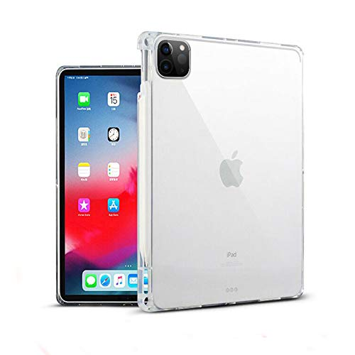 ProElite Soft TPU Transparent Back Case Cover for Apple iPad Air 4 10.9 inch with Pencil Holder