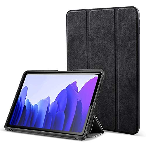 ProElite PU Smart Flip case Cover for Samsung Galaxy Tab A7 10.4 Inch SM-T500/T505/T507, Black