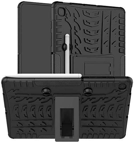 ProElite Shockproof Tough Heavy-Duty Armor Case with Pen Slot Cover for Samsung Galaxy Tab S6 Lite 10.4 Inch SM-P610/P615, Black