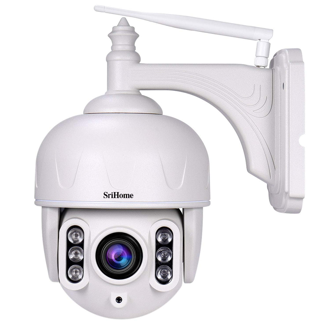 Srihome SH028 PTZ 5X Optical Zoom Wireless WiFi 3MP Ultra HD 1296P Security Camera CCTV