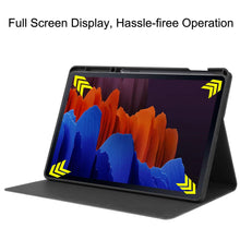 Load image into Gallery viewer, ProElite Smart Flip case Cover for Samsung Galaxy Tab S7 Plus 12.4 Inch SM-T970/T975/T976 with SPen Holder, Black