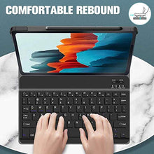 "Load image into Gallery viewer, ProElite Detachable Wireless Bluetooth Keyboard flip case Cover for Samsung Galaxy Tab S7 Plus 12.4"" SM-T970/T975/T976, Black"
