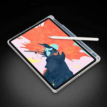 Load image into Gallery viewer, ProElite Soft TPU Transparent Back Case Cover for Apple iPad Air 4 10.9 inch with Pencil Holder
