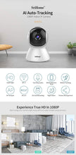 Load image into Gallery viewer, Srihome SH025 Pan/Tilt Wireless WiFi 2MP Full HD 1080p IP Security Camera CCTV with Auto Tracking