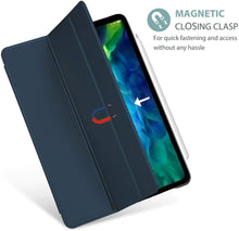 Load image into Gallery viewer, ProElite Smart Flip Case Cover for Apple iPad pro 12.9 2020 ,Translucent & Hard Back, Dark Blue [Support 2nd Gen Apple Pencil Charging]