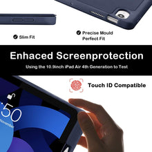 Load image into Gallery viewer, ProElite Pencil Case for iPad Air 4 2020 10.9 Inch [Auto Sleep/Wake Cover] [Pencil Holder] [Soft Flexible Case] Recoil Series - Dark Blue