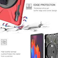 Load image into Gallery viewer, ProElite Rugged 3 Layer Armor case Cover for Samsung Galaxy Tab S7 Plus 12.4 Inch SM-T970/T975/T976 with SPen Holder, Hand Grip and Rotating Kickstand, Red