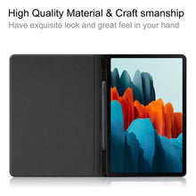 "Load image into Gallery viewer, ProElite Smart Flip case Cover for Samsung Galaxy Tab S7 11"" SM-T870/T875 with S Pen Holder, Grey"