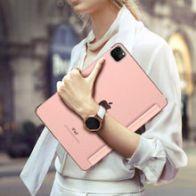 Load image into Gallery viewer, ProElite Smart Flip Case Cover for Apple iPad pro 12.9 2020 ,Translucent & Hard Back, Rose Gold [Support 2nd Gen Apple Pencil Charging]