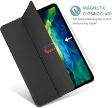Load image into Gallery viewer, ProElite Smart Flip Case Cover for Apple iPad pro 12.9 2020 ,Translucent & Hard Back, Black [Support 2nd Gen Apple Pencil Charging]