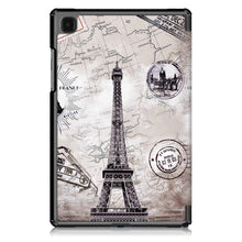 "Load image into Gallery viewer, ProElite Smart Trifold Flip case Cover for Samsung Galaxy Tab A7 10.4"" SM-T500/T505/T507, Eiffel"