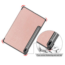 "Load image into Gallery viewer, ProElite Smart Trifold Flip case Cover for Samsung Galaxy Tab S7 11"" SM-T870/T875, Support S Pen Magnetic Attachment [Rose Gold]"