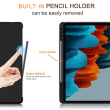 "Load image into Gallery viewer, ProElite Smart Transformer Style Flip case Cover for Samsung Galaxy Tab S7 11"" SM-T870/T875 with S Pen Holder, Dark Blue"
