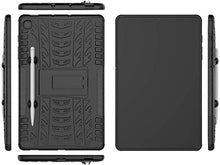 Load image into Gallery viewer, ProElite Shockproof Tough Heavy-Duty Armor Case with Pen Slot Cover for Samsung Galaxy Tab S6 Lite 10.4 Inch SM-P610/P615, Black