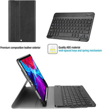 Load image into Gallery viewer, ProElite Detachable Wireless Bluetooth Keyboard Smart flip case Cover for Apple iPad Pro 12.9 inch 2020 with Pencil Holder, Black