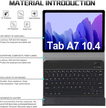 "Load image into Gallery viewer, ProElite Detachable Wireless Bluetooth Keyboard flip case Cover for Samsung Galaxy Tab A7 10.4"" SM-T500/T505/T507, Black"