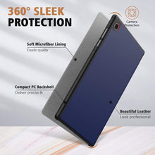 Load image into Gallery viewer, ProElite Sleek Smart Flip Case Cover for Lenovo Tab M10 HD 2nd Gen TB-X306X / Smart Tab M10 HD 2nd Gen TB-X306F, Navy Blue