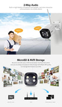 Load image into Gallery viewer, Srihome SH035 Wireless WiFi 3MP Full HD 1296p Waterproof Outdoor IP Security Camera CCTV with 2 LED Lights
