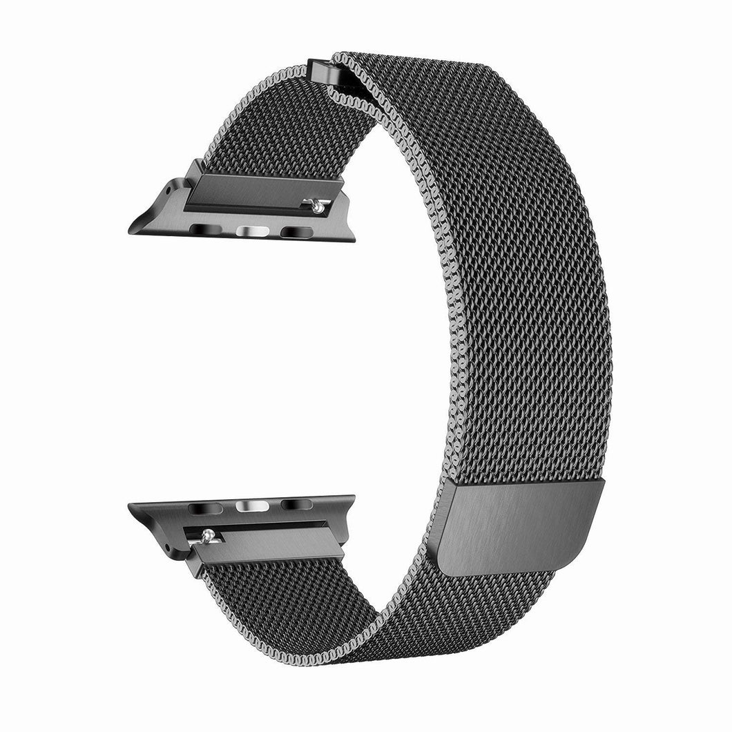 ProElite 42/44 MM Milanese Wrist Band for Apple Watch Series 6/5/4/3/2/1/SE, Black