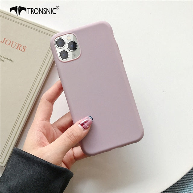 Solid Matte Color Phone Case for iPhone