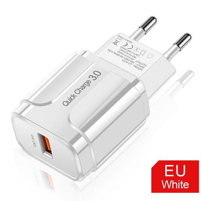 Quick Charge 3.0 USB Charger EU Wall Mobile Phone Charger Adapter