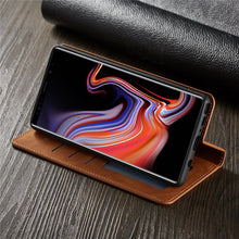 Load image into Gallery viewer, Leather Flip Case for Samsung A-series, S-Series AND Note Series