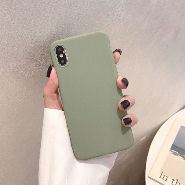 Silicone Solid Color Phone Case For Huawei P Series - Olive Green