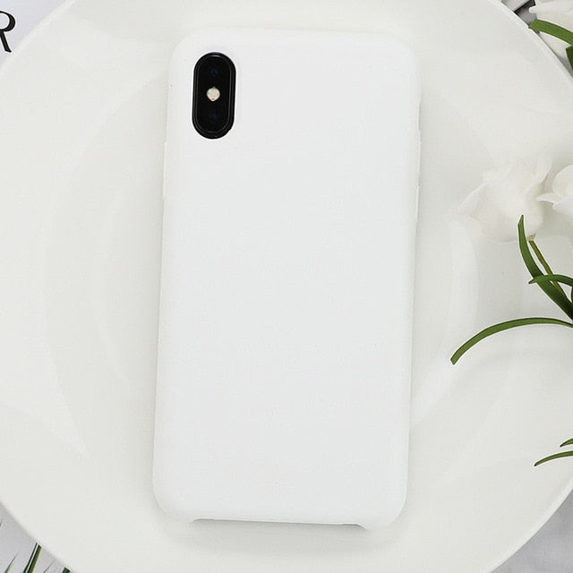 Silicone Solid Color Phone Case For Huawei P Series - White