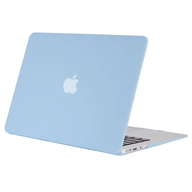 Soft Touch Matte Laptop Case For Macbook - Matte Airy Blue