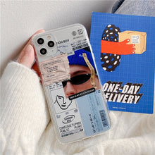 Load image into Gallery viewer, Fashion Art Label Clear Phone Case for iPhone