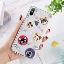 Load image into Gallery viewer, Abstract Clear Cartoon Phone Case For iPhone