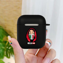 Load image into Gallery viewer, Money Heist Silicone Matte Black Cover For Apple AirPods