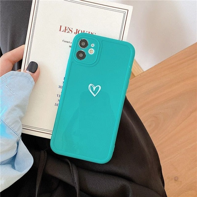 Love Heart Phone Case For iPhone - Full Phone Cover Case