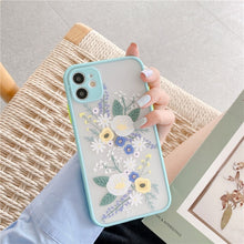 Load image into Gallery viewer, Flowers Case For iPhone 7 - 12 Pro Max - Soft Bumper Case With 3D Texture Feel