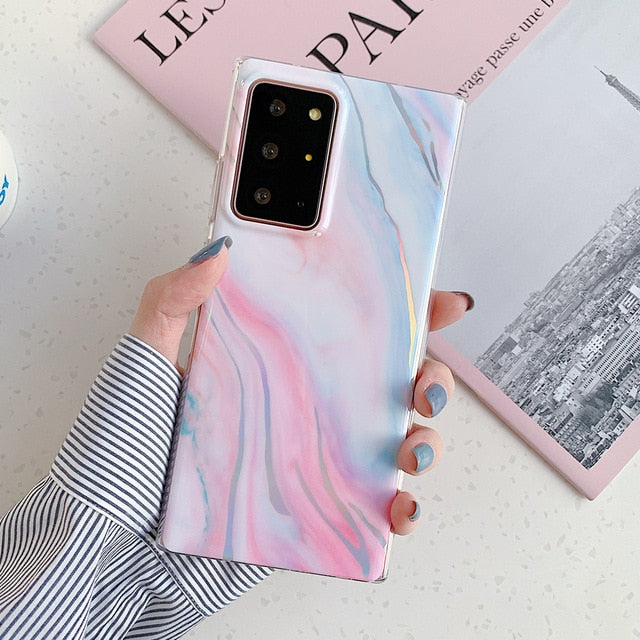 Reflective Marble Phone Case For Samsung A-Series, S-Series AND Note Series