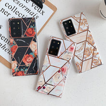 Load image into Gallery viewer, Rose Geometric Flower Phone Case For Samsung Galaxy S-Series Note-Series and A-Series