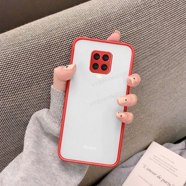 Matte Translucent Cover For Xiaomi - Red