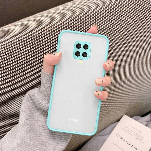 Matte Translucent Cover For Xiaomi - Light Blue