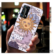 Load image into Gallery viewer, Sun & Moon Face Shockproof Phone Case for Huawei