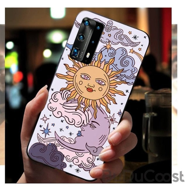 Sun & Moon Face Shockproof Phone Case for Huawei
