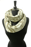 16735 Zebra Pattern Winter Infinity Scarf