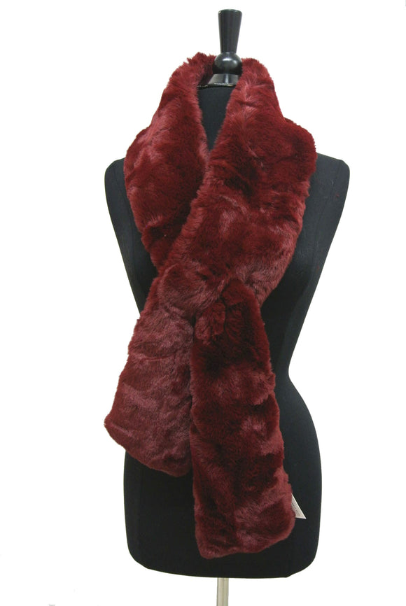 HX209 Solid Color Faux Fur Wrap/Scarf for Winter