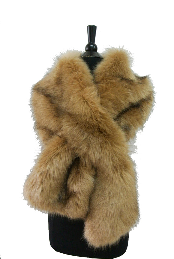 HX101 Solid Color Faux Fur Wrap/Scarf For Winter