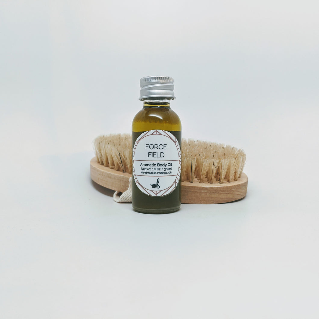 Natural Bristle Body Brush + Force Field