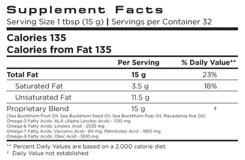 Recovery - Dietary Supplement - Nutrition Facts Label