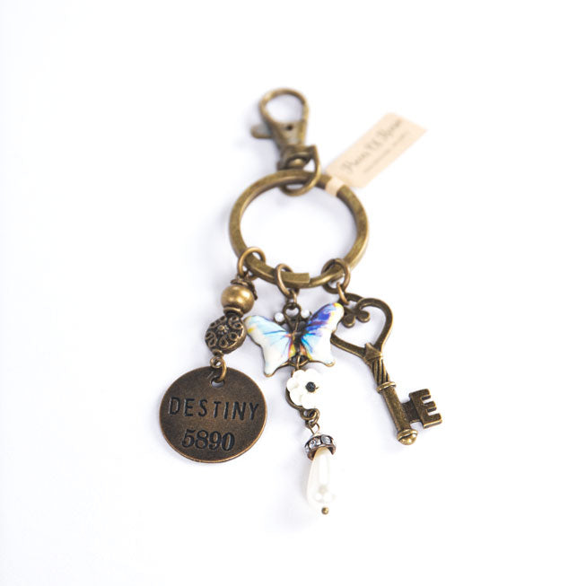 Key and Butterfly Keychain