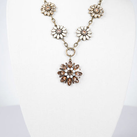 Crystal Flowers Necklace