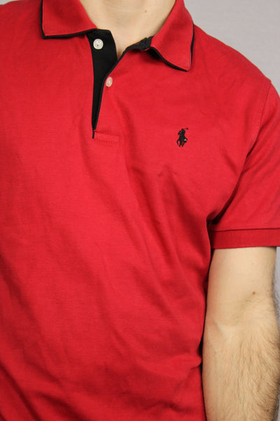 Ralph Lauren Cotton Unisex Branded Polo Red Size XL-Tees & Polos-Bij Ons Vintage-38/40-Bij Ons Vintage